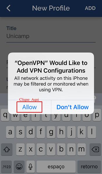 Tutorial VPN para iOS | Centro de Computação